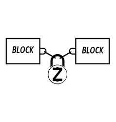 Zcash block chain technology icon disign vector