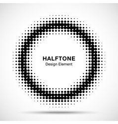 Black Abstract Halftone Design Element vector image