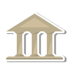 Columns building isolated icon vector