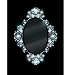 Diamond Mirror Frame vector image vector image