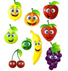 fruit cartoon vector image vector image