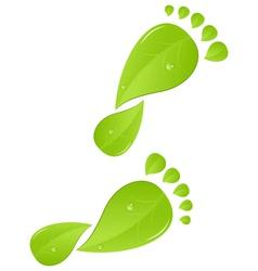 green steps vector image