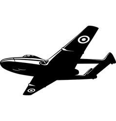 jet fighter Vampire vector image