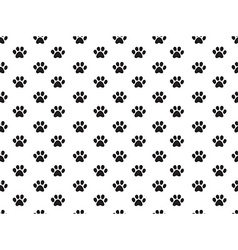 Animal footprint pattern vector image