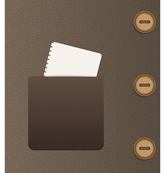 pocket and buttons vector image vector image