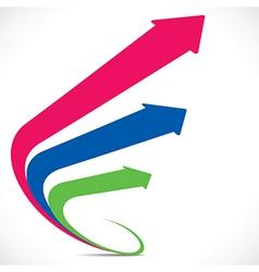 Three arrows vector image