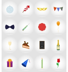 celebration flat icons 17 vector image vector image