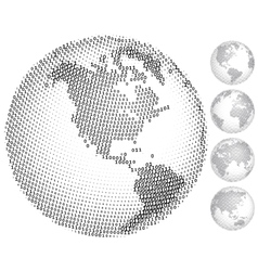 Digital globes vector image vector image