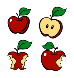 Painting apple set vector image vector image