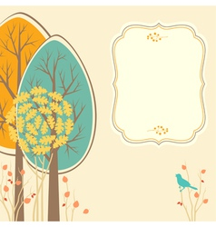 Autumn card vector