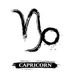 Capricorn symbol vector