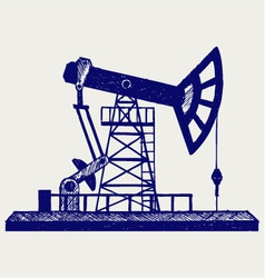 Concept of oil industry vector image vector image