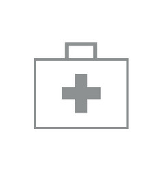 first aid kit bag outline vector image vector image
