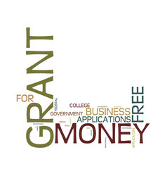 Grantmoney kw text background word cloud concept vector