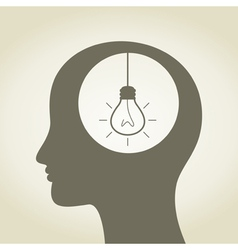 Idea in a head vector image vector image