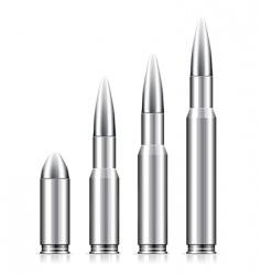 set of bullets vector image