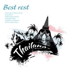 Travel Thailand grunge style vector image