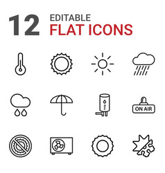 12 climate icons vector