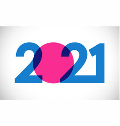2021 straight simple colorful blue vector