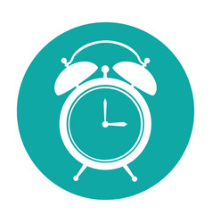 Alarm watch isolated icon vector