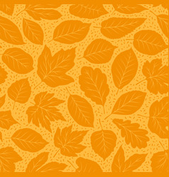 autumn seamless background leaf fall pattern vector image