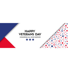 Banner for veterans day facebook size vector