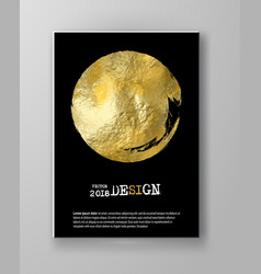 Black and gold design templates vector
