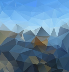 Blue sky mountain horizon polygonal triangular vector