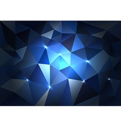 Blue Triangles Dark vector image