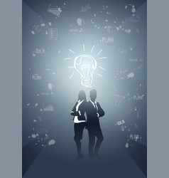 Business people group silhouette team vector