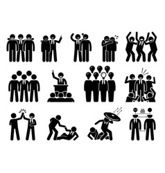 Businessman being a leader this has vector