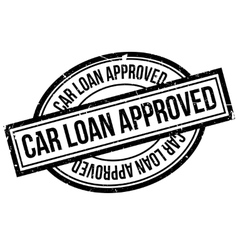 Car loan approved rubber stamp vector