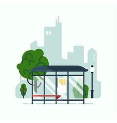 city mass transit system concept design element vector image