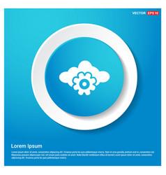 cloud gear icon vector image