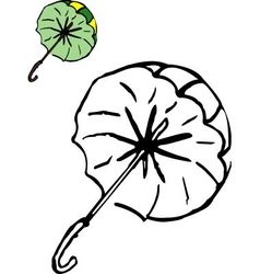 Coloring umbrella vector