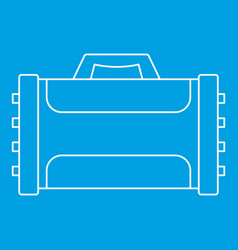 Compressed gas container icon outline vector