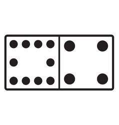 Domino with 10 spots 4 spots vintage vector