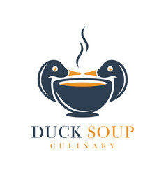 duck soup food logo vector image