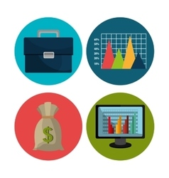 Financial market and investments vector image