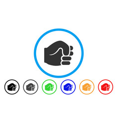 fist rounded icon vector image