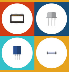 flat icon appliance set of resist mainframe vector image