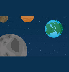 Flat world design style vector