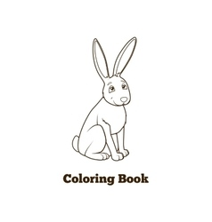 Forest animal hare cartoon coloring book vector