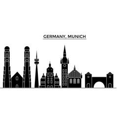 Germany munich architecture city skyline vector