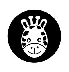 giraffe face icon design vector image