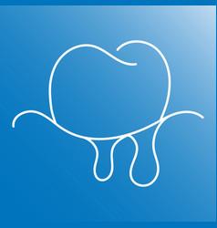 Gum bleeding linear icon thin line vector