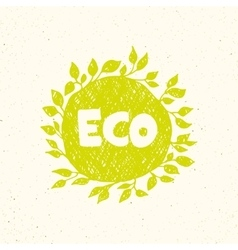 Hand drawing eco logo templates vector image