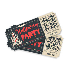 happy halloween party tickets vector image