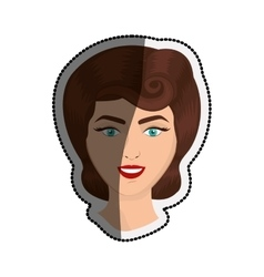 Isolated retro woman cartoon design vector