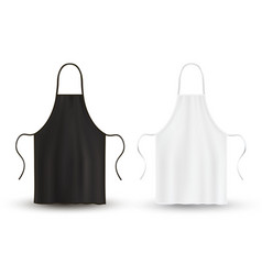 Kitchen apron set black and white clothing for vector